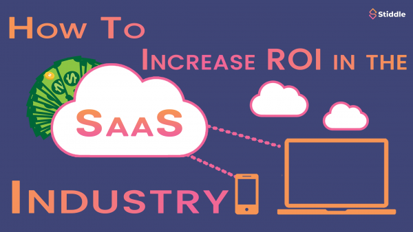 SaaS cloud connected to laptop and phone to increase ROI.