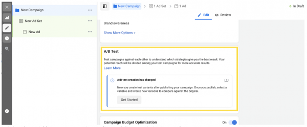 How to A/B split test using Facebook Ads - Stiddle Graphic